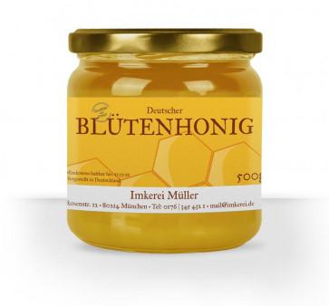 """Honigglasetiketten """"Siegelhonig"""" in Dunkelbraun"""