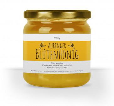 """Honigglas-Etiketten """"Blütenhonig"""" gelb"""