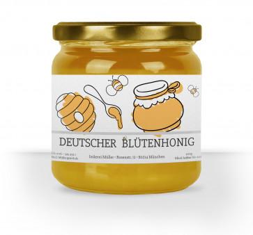"""Honigglas-Etiketten """"The Bee"""" grau"""