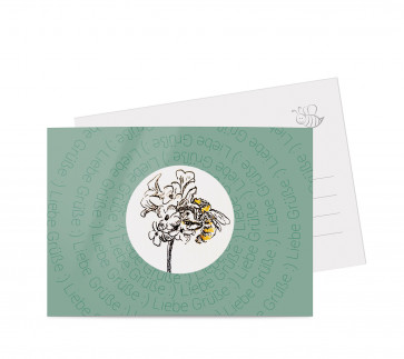 "Grußkarte ""Bienenblüte"" grün"