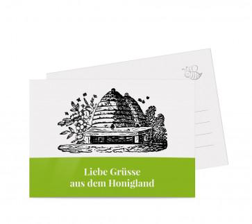 """Grußkarten """"Bienenhaus"""" grün"""