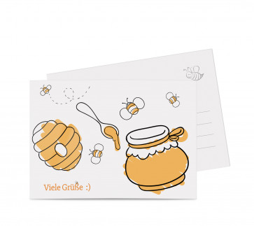 """Grußkarten """"The Bee"""" orange"""