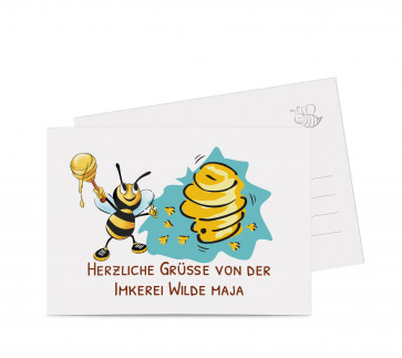 "Grußkarte ""Wilde Maja"" braun"