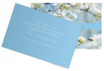 "Visitenkarten ""BlueBee"" blau"