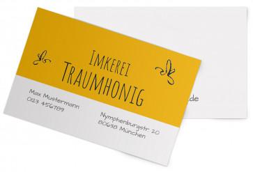 """Visitenkarten """"Blütenhonig"""" gelb"""
