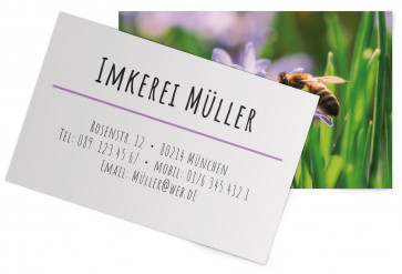 "Visitenkarten ""Lavendel"" lila"