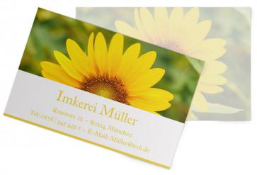 "Visitenkarten ""Sun-Power"" gelb"
