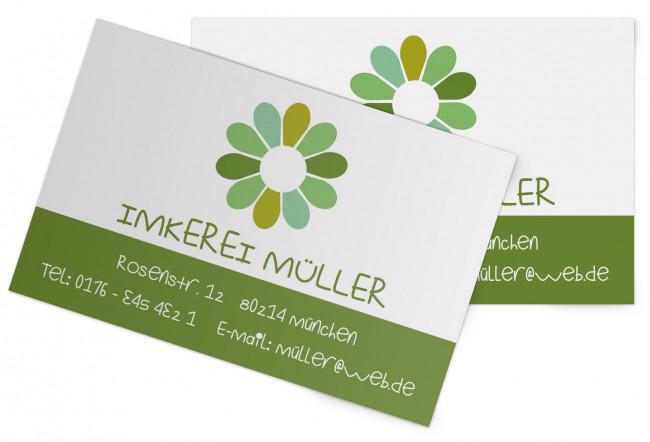 Visitenkarten Flowerpower