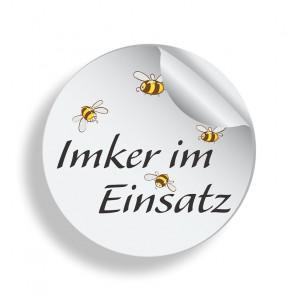 """Aufkleber """"Imker im Einsatz"""""""