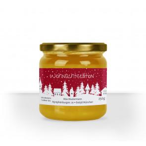 """Kleines Honigglasetikett """"Weihnachtsdorf"""""""