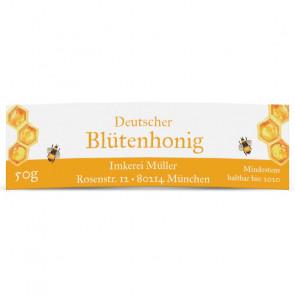 "Honigglasetikett ""Dicke Biene"" in 65 x 20 mm"