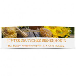 "Mini-Honigglas-Etiketten ""Golden Honey"""