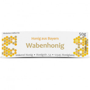 "Mini-Etikett ""Wabenhonig"""