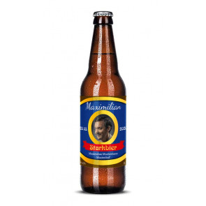 """Bieretiketten """"Starkbier"""" auf Bierflasche"""