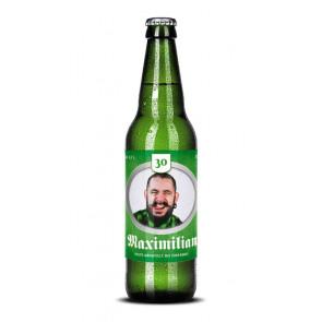 """Bieraufkleber """"Max Geburtstag"""" auf Bierflasche"""