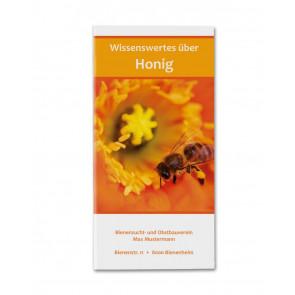 """Flyer """"Wissenswertes über Honig"""" - Titelblatt"""