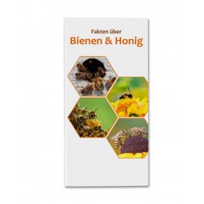"""Deckblatt des Flyers """"Fakten zu Bienen & Honig"""""""
