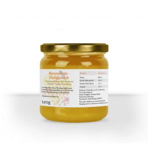 """Etikett im Design """"Aquarell Wabe"""" auf Honigglas"""