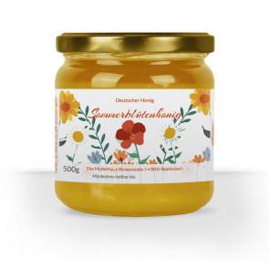 """Etikett """"Bienentraum"""" auf 500 g Glas"""