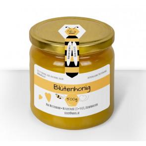 """Gewährverschluss """"Honigliebe"""" (Version dicke Biene) auf Glas"""