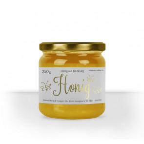 """Kleine Honigetikett """"Flying Bee"""" auf Honigglas"""