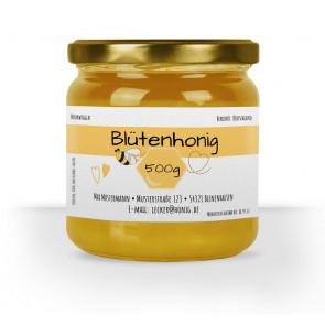 """Etikett """"Honigliebe"""" für 500g Gläser"""