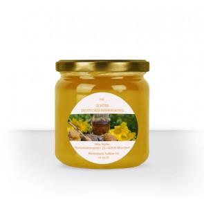 """Rundes Etikett """"Golden Honey"""" auf Honigglas"""
