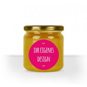 Eignes Design für Ihr rundes Honigglasetikett per PDF Upload