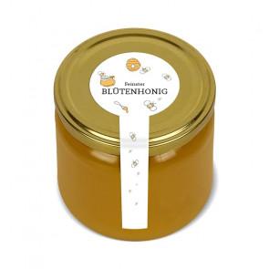 """Frischesiegel """"The Bee"""" auf weißem Etikettenpapier"""