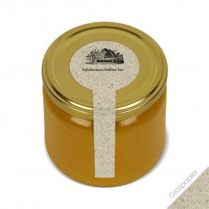 """Frischesigel """"Bienenhaus"""" auf Honigglas"""