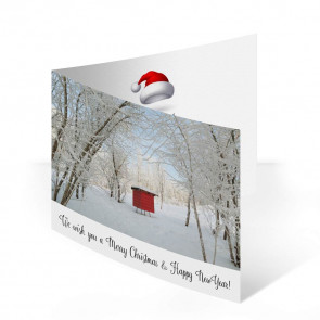 """Weihnachtskarte """"Bienenwald"""""""