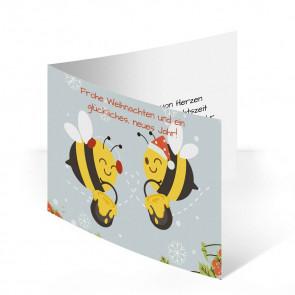 """Weihnachtskarten """"Bienenwinter"""""""