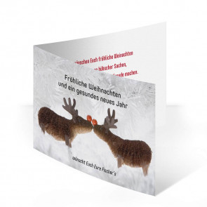 """Weihnachtskarte """"Elchkuss"""""""