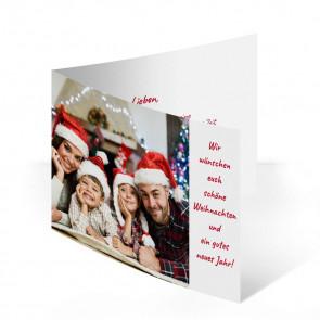 """Weihnachtskarte """"Kaminzeit"""""""