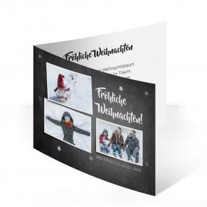 """Weihnachtskarte """"Kreidetafel"""""""