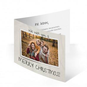 """Weihnachtskarte """"Paperlook"""""""