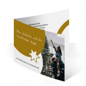 """Weihnachtskarte """"Glücksstern"""""""