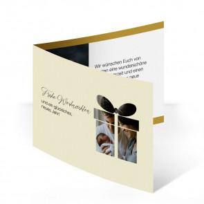 """Weihnachtskarte """"Ein Geschenk"""""""