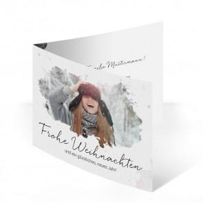 "Weihnachtskarte ""White Beauty"""