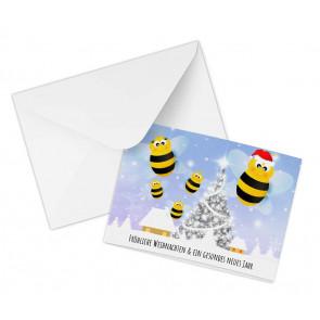 """Karte """"Weihnachtsbiene"""""""