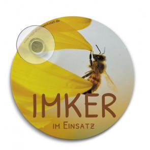 """Hinterglasplakette """"Imker-im-Einsatz"""""""