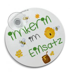 """Hinterglasschild """"Mein Schwarm"""" mit Saugnapf"""