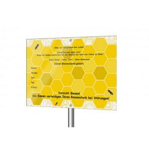"""Schild """"Dieser Bienenstand gehört..."""""""
