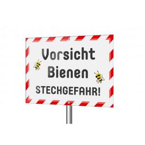 """Schild """"Vorsicht Bienen! Stechgefahr!"""""""