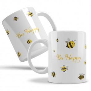 "Keramiktasse ""Bee happy"""