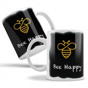 "Keramiktasse ""Black Bee"" - Bee Happy"