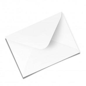 Briefumschlag, weiß, gummeriert