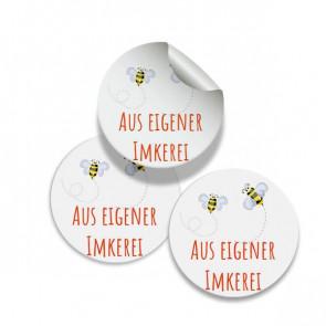 """Runde Zusatzetiketten """"Aus eigener Imkerei"""" 25 mm rund"""