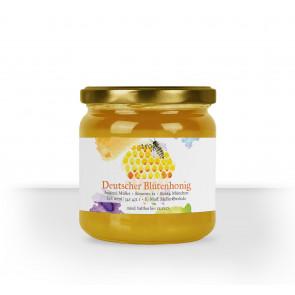 Honigglasetikett Design Aquarell Wabe