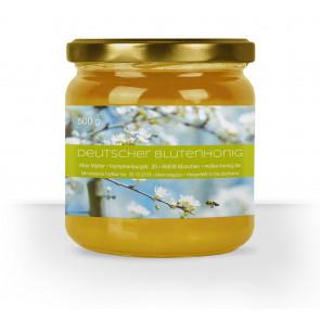 "Honigglas-Etikett ""Blue Bee"" in Hellgrün"